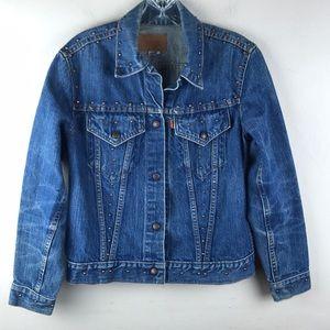 Levi's Denim Jacket Distressed Studded Vintage